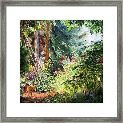 Poppy Garden Landscape Framed Print