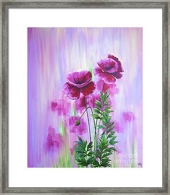 Poppy Haze Framed Print