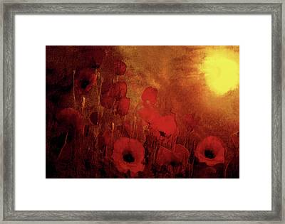Framed Print featuring the painting Poppy Heaven by Valerie Anne Kelly