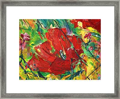 Poppy II Framed Print