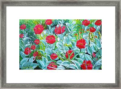 Poppy Impression Framed Print