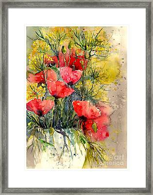 Poppy Impression Framed Print