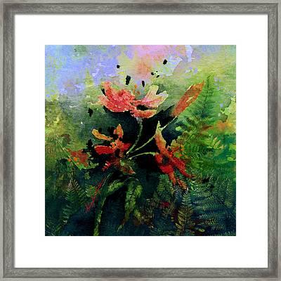 Poppy Impressions Framed Print by Hanne Lore Koehler