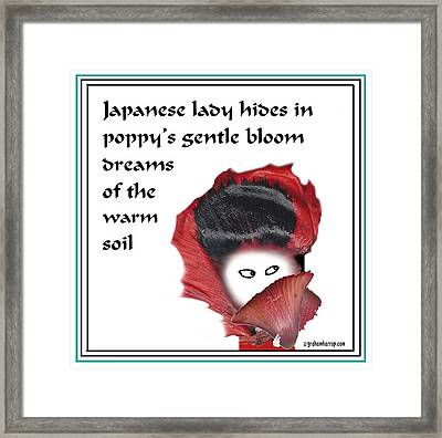 Poppy Lady Framed Print by Graham Harrop
