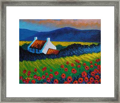 Poppy Meadow Framed Print by John  Nolan