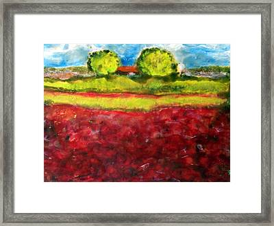 Poppy Meadow Framed Print by Karla Phlypo-Price