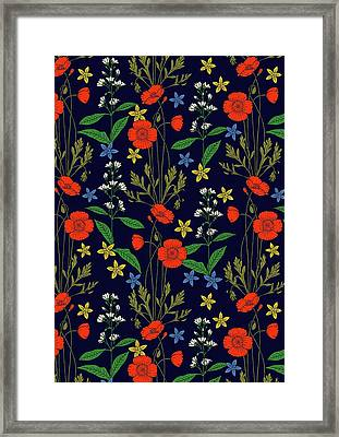 Poppy Meadow Framed Print