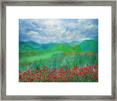 Poppy Meadows Framed Print by Georgiana Romanovna