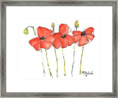 Red Poppy Play Framed Print