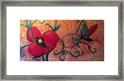 Poppy One Framed Print by Rebecca Merola