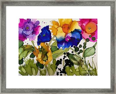 Poppy Party Framed Print