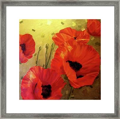 Poppy Power Framed Print by Jennifer  Blenkinsopp