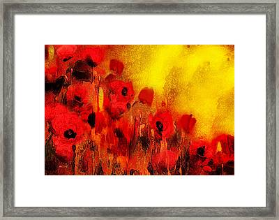 Framed Print featuring the painting Poppy Reverie by Valerie Anne Kelly