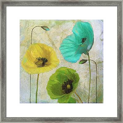 Poppy Shimmer I Framed Print by Mindy Sommers