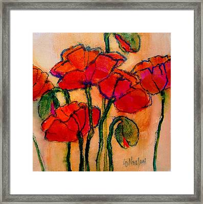 Poppy Sketch Framed Print by Carol  Nelson