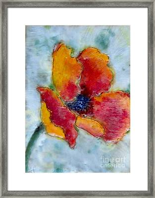 Poppy Smile Framed Print