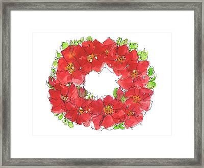 Poppy Wreath Framed Print