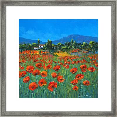 Poppyfield Framed Print