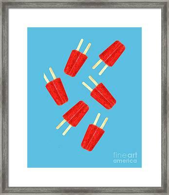 Popsicle T-shirt Framed Print by Edward Fielding