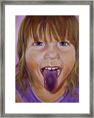 Framed Print featuring the painting Popsicle Tongue by Joni McPherson