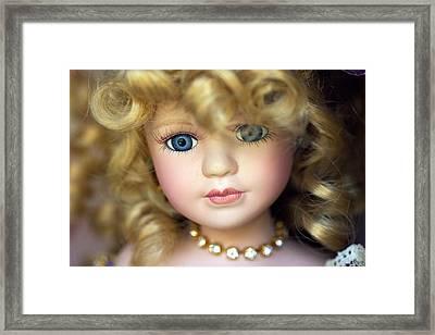 Porcelain Doll Framed Print by Joseph Skompski