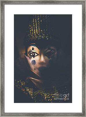Porcelain Doll. Performing Arts Event Framed Print