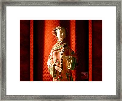 Porcelain Figure Framed Print
