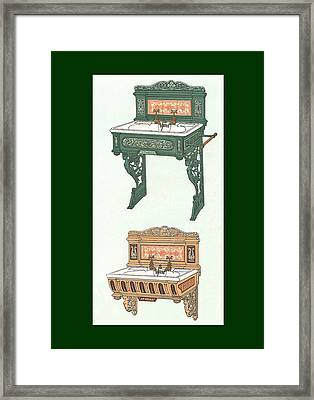 Porcelain Hand Basin One Framed Print by Eric Kempson