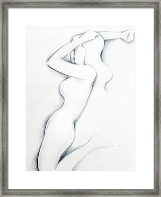 Framed Print featuring the drawing Porcelain by Keith A Link