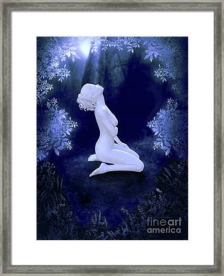 Porcelain Moon Framed Print