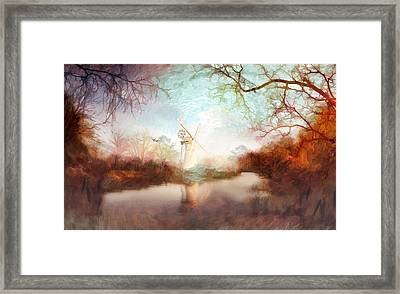 Framed Print featuring the painting Porcelain Skies by Valerie Anne Kelly