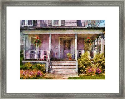 Porch - Cranford Nj - Grandmotherly Love Framed Print by Mike Savad
