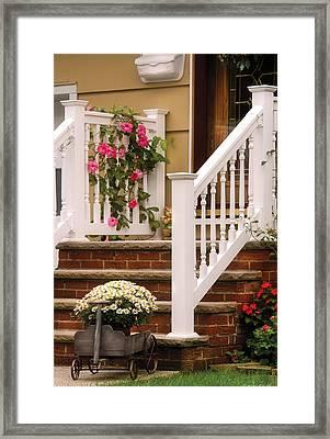 Porch - Garwood Nj - Suburban Paradise Framed Print by Mike Savad