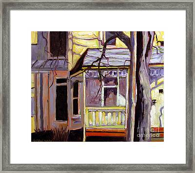 Porch Alight With The Sun Framed Print by Charlie Spear