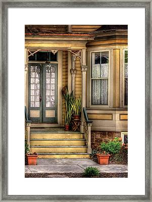 Porch - House 109 Framed Print by Mike Savad