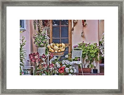 Porch In Anacapri Italy Framed Print