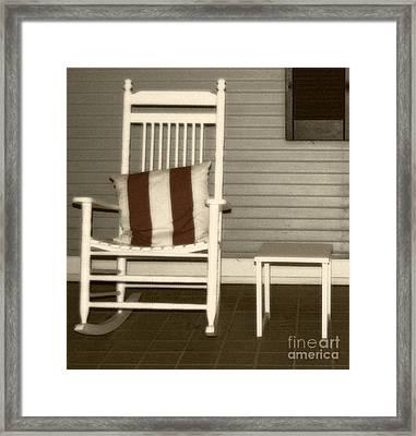 Porch Rocker Framed Print by Debbi Granruth