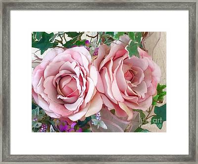 Porch Roses Framed Print
