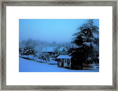 Porch Setting, Not Today Framed Print