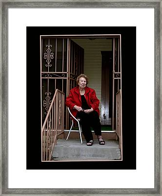 Porchwatcher Framed Print by Richard Gordon