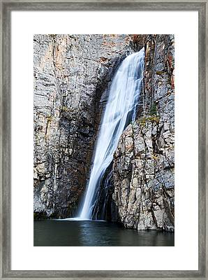 Porcupine Falls Framed Print by Larry Ricker
