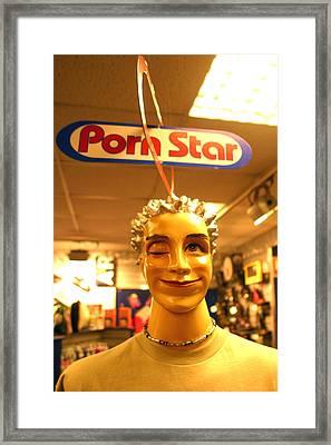 Porn Star Framed Print by Jez C Self