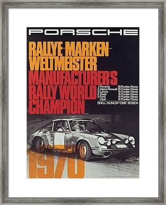 Porsche 1970 Rally World Champion Framed Print