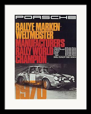 World Rally Championship Framed Prints