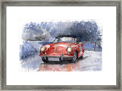 Porsche 356 B Roadster Framed Print by Yuriy  Shevchuk