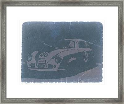 Porsche 356 Coupe Front Framed Print by Naxart Studio