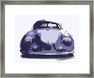 Porsche 356 Graphic Framed Print