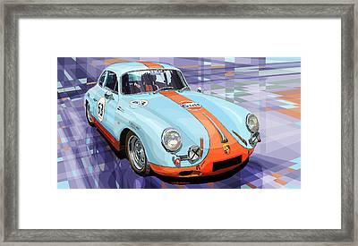 Porsche 356 Gulf Framed Print by Yuriy  Shevchuk