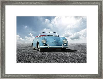 Framed Print featuring the digital art Porsche 356 Speedster by Peter Chilelli