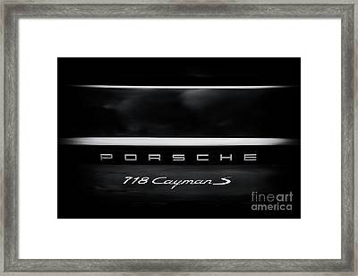Porsche 718 Cayman S Framed Print by Tim Gainey